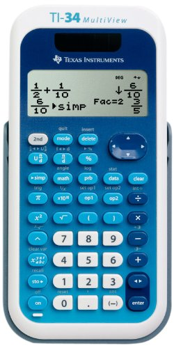 TI-34 MultiView Calculator with Advanced Math and Science Features, Texas Instruments