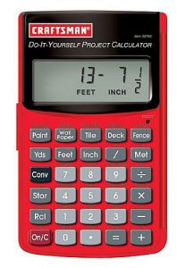 Craftsman DIY Project Calculator