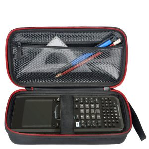 HESPLUS Hard Case with Mesh Pocket for Texas Instruments TI-Nspire CX CAS Graphing Calculator