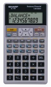 Sharp EL-738C Financial Calculator