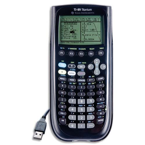 Ti 89 Titanium Programmable Graphing Calculator