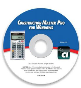 Calculated Industries 4111 Construction Master Pro for Windows Software