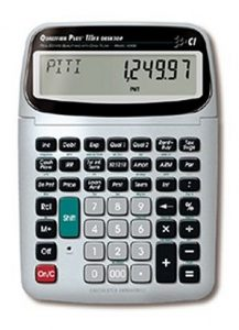 Calculated Industries 43430 Qualifier Plus IIIFX Desktop Real Estate Finance Calculator