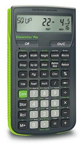 Calculated Industries ConcreteCalc Pro 4225 Advanced Yard Feet Inch and Fraction Concrete Calculator