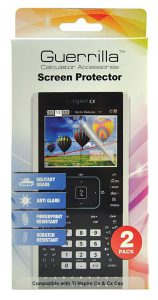Guerrilla Military Grade Screen Protector 2 Pack For TI-Nspire CX CAS Graphing Calculator