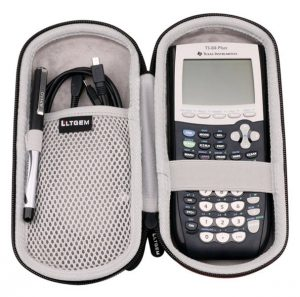 LTGEM Case for Texas Instruments TI-84 89 83 Plus CE Graphics Calculator Includes Mesh Pocket